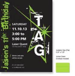 laser tag invitation imagintee
