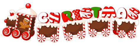 merry christmas candy train text label clipart clipart