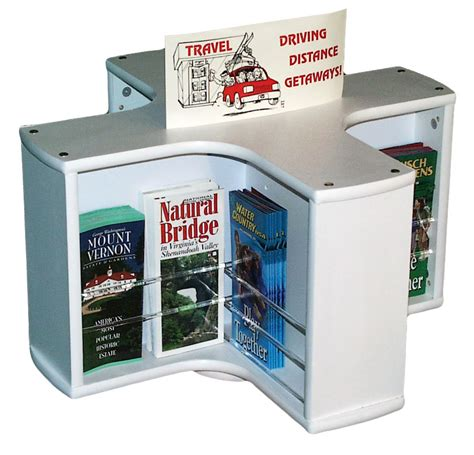 Brochure Racks Countertop by 8 Pocket Rotating Countertop Literature Rack