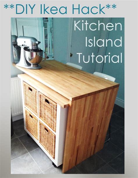 rolling island for kitchen ikea diy ikea hack kitchen island tutorial diy pinterest