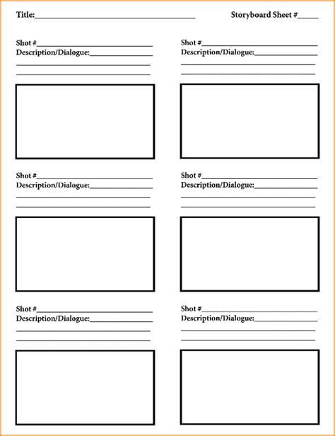 5 free storyboard templates teknoswitch