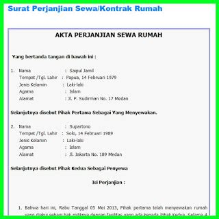 perjanjian sewa rumah doc review ebooks