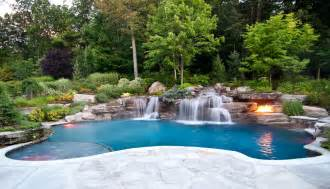 pools with waterfalls new jersey pool renovation company earns international