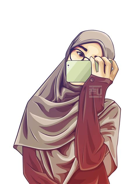 anime hijab gaul hijab vector ahmadfu22 hijab vector pinterest