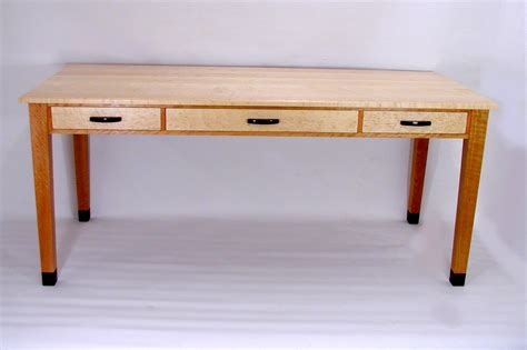 Custom Desk In Birdseye Maple And Curly Cherry By Rj Fine Maple Desk