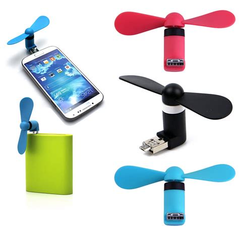 usb fan for phone 2 in 1 plug play usb android smart phone fan