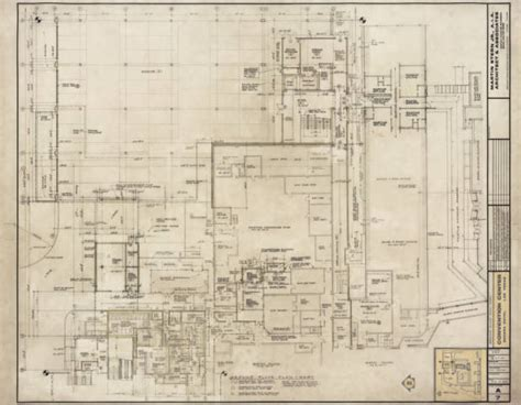 las vegas convention center floor plan unlv libraries digital collections architectural drawing