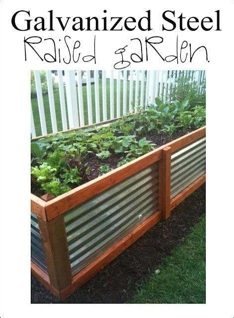 galvanized raised garden bed galvanized steel raised garden bed the great outdoors
