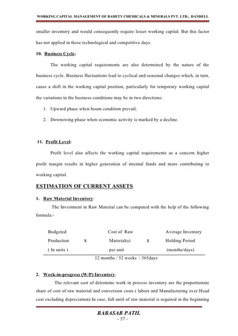 Project Report On Capital Market For Mba by Working Capital Management Project Report Mba