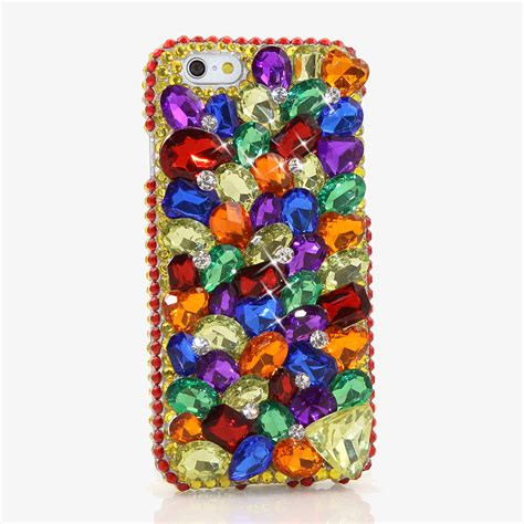 Rainbow Bling Iphone 6 bling crystals phone for iphone 6 6s iphone 6 6s