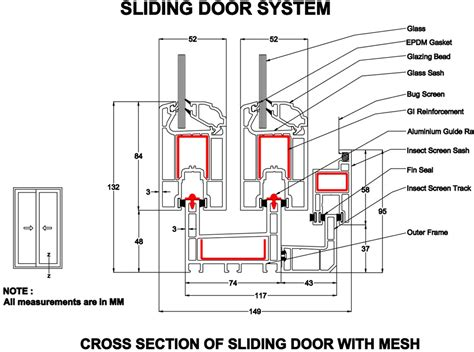 Door Section by Upvc Sliding Doors Sliding Door System Torfenster