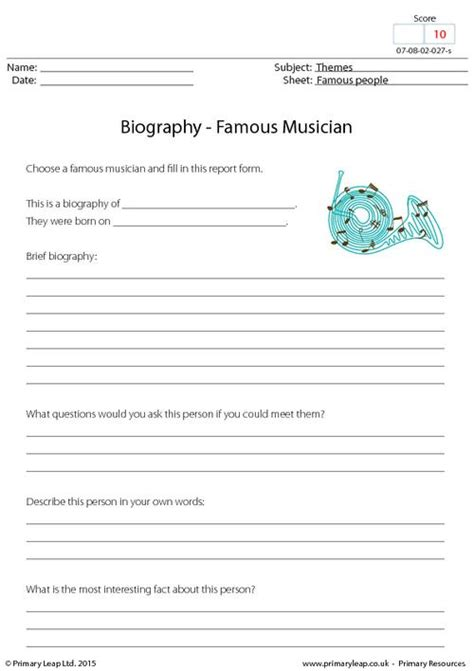 biography english lesson biography famous musician primaryleap co uk