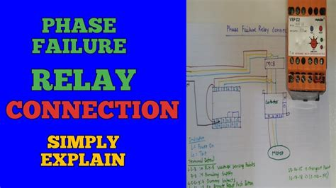 phase failure relay connectioninstallation  motor