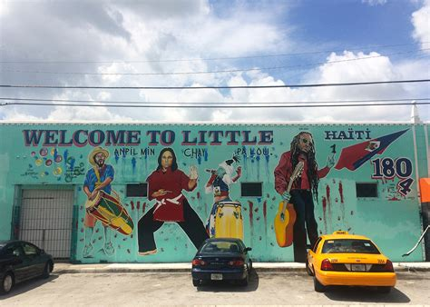 Wall Mural Map in miami s little haiti a muralist fights gentrification