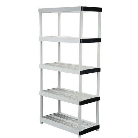 Rubbermaid Plastic Shelving Unit Shelves Rubbermaid Garage Shelving