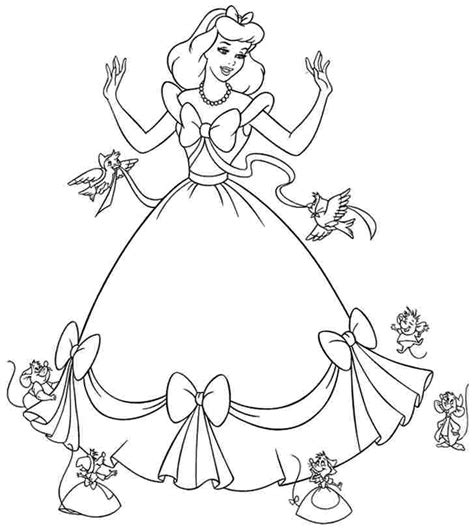 free printable cinderella coloring pages az coloring pages