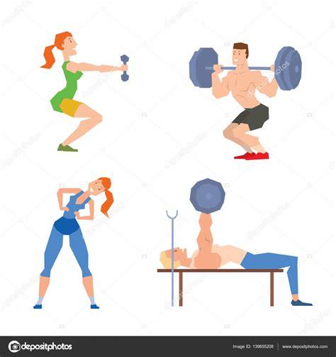 imagenes fitness animadas vector de dibujos animados deporte gimnasio personas