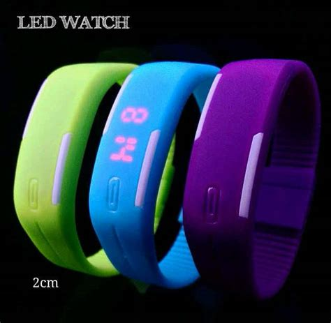 Led Karet jam tangan gelang led karet rubber led 483 barang unik china barang unik murah