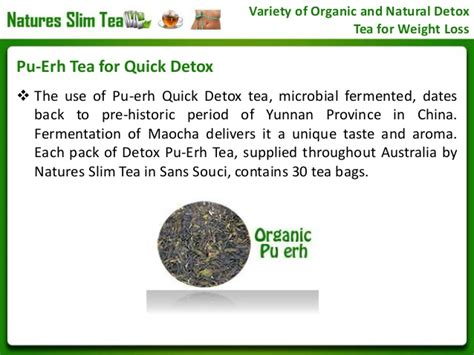 Pu Erh Tea Detox by Variety Of Organic And Detox Tea For Weight Loss