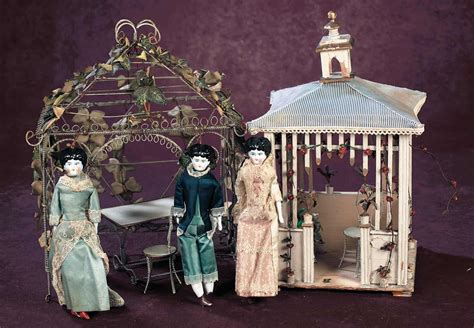 antique doll house a cherished collection madame andr 233 e petyt 460 two antique dollhouse size gazebos