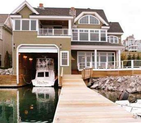 houseboat with garage boat garage awesome houses n decor pinterest