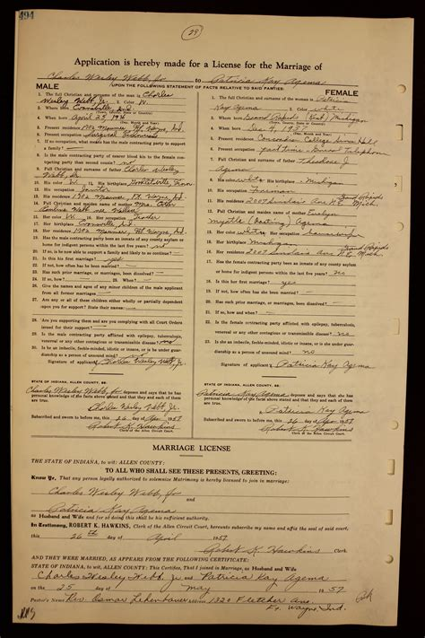 Webb County Marriage Records Acgsi Allen County Marriages