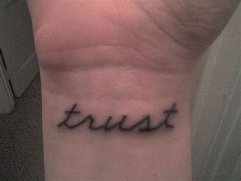 trust wrist tattoo 1000 images about tattoos on wrist tattoos