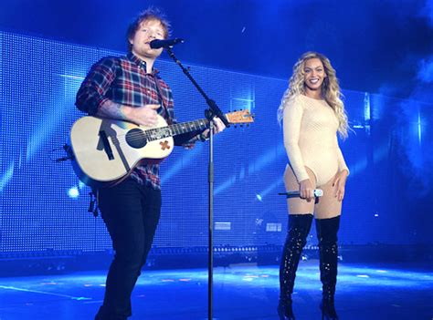 ed sheeran beyonce watch ed sheeran beyonce perform quot drunk in love quot live at