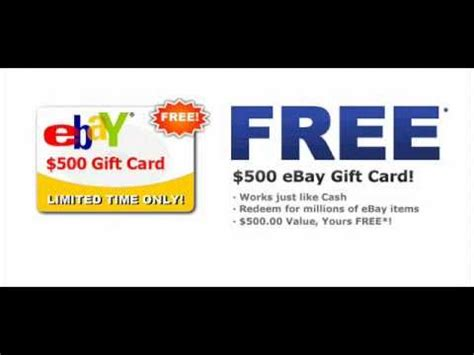 Free Ebay Gift Card - win a free 500 ebay gift card limited time only daily draws youtube