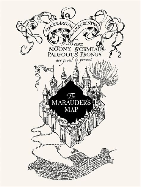 marauders map coloring page harry potter marauders map printable sketch coloring page
