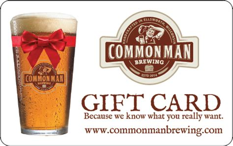 Common Man Gift Card - featured products