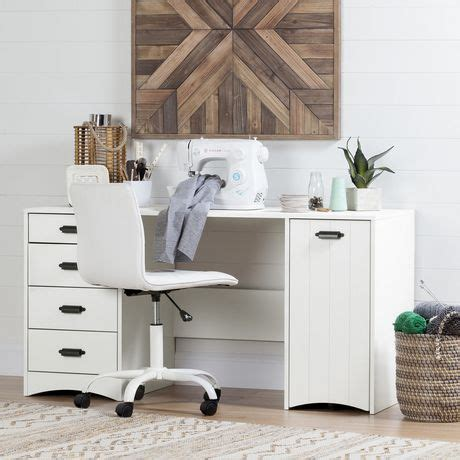 south shore sewing craft table south shore artwork sewing craft table with storage white