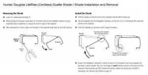 installing douglas blinds douglasduette literise cordless lift system