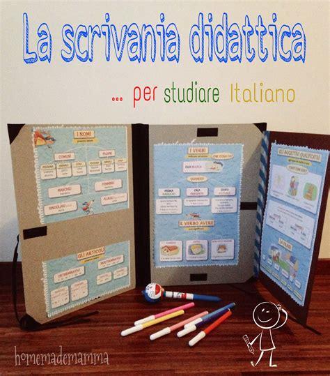 esercizi da scrivania la scrivania didattica il kit della grammatica italiana