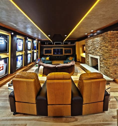 Mancave Bedroom by Framed Jerseys From Sports Themed Bedrooms To