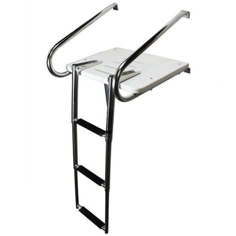 ladder for swim platform on boat inboard outboard swim platform with 3 step ladder boat