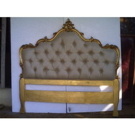 gold leaf headboard baroque modern maryana tufted queen headboard in gold leaf