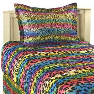 Girl leopard print bedding twin full queen king comforter sets bed