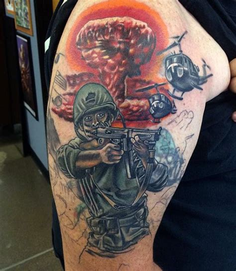 best military tattoos 100 tattoos for memorial war solider designs