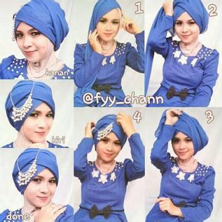 tutorial jilbab dengan headband cara praktis memakai jilbab dengan hiasan headband