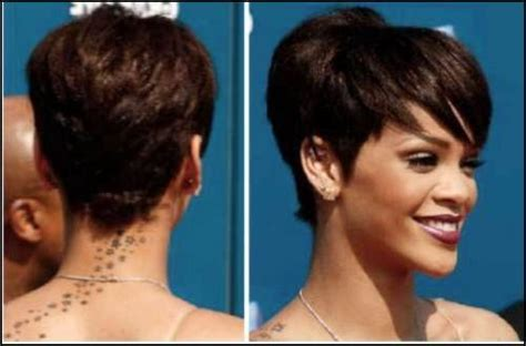 rihanna short hairstyles front and back i like this post on http goodhairstyleideas com short