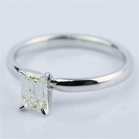 1 carat emerald cut engagement ring