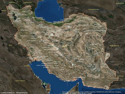 satellite map of iran iran satellite maps leaddog consulting