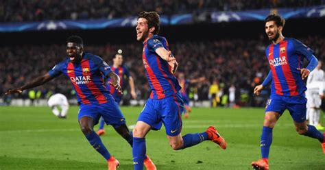 barcelona psg 6 1 barcelona 6 1 psg agg 6 5 catalans complete greatest