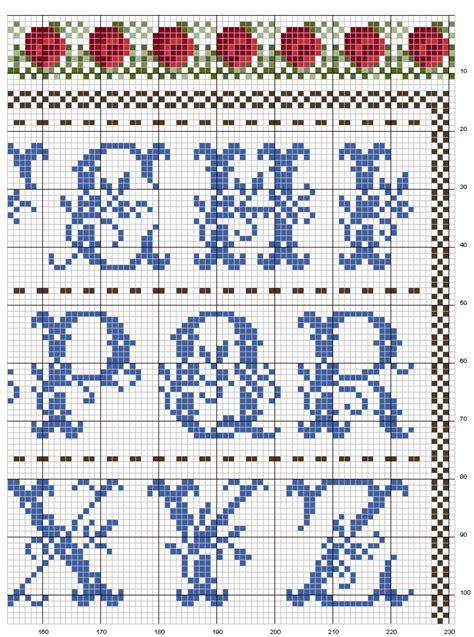 lettere alfabeto punto croce schemi alfabeto punto croce schemi gratis free alfabeto con i