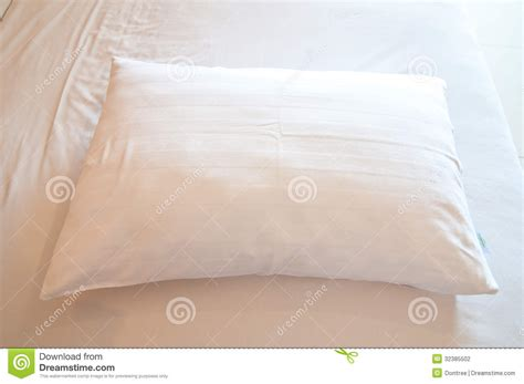 white bed pillows white pillow on a bed stock photography image 32385502