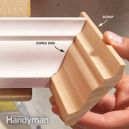 how to cut angles in front corners of hair how to install crown molding the family handyman