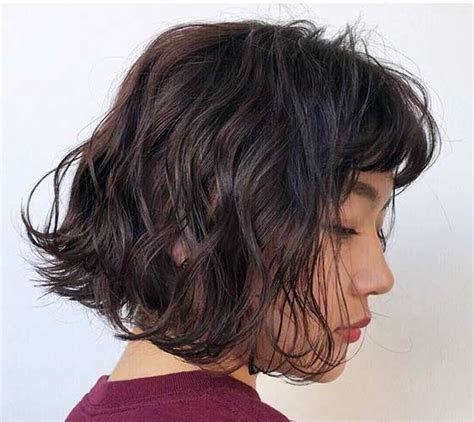beach wave perm with bangs short body wave perm hairstyles hairstyles