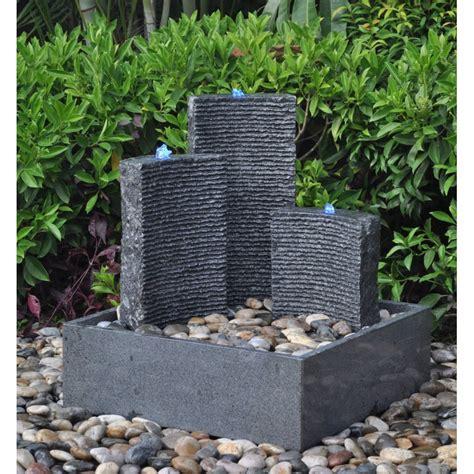 contemporary granite water fountain 78cm high triple design self contained blackbrook