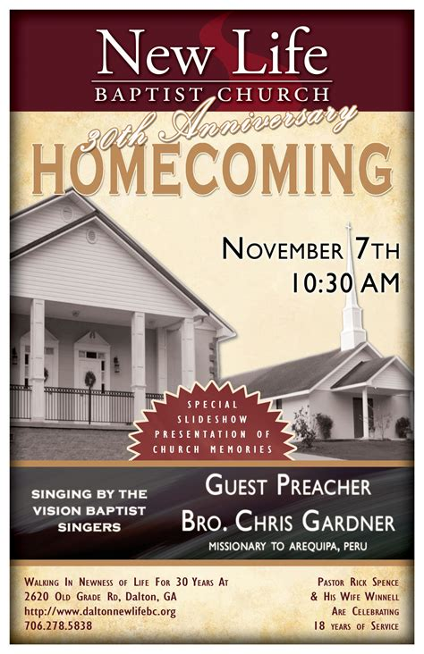 Sle Church Homecoming Themes Party Invitations Ideas Church Homecoming Program Template